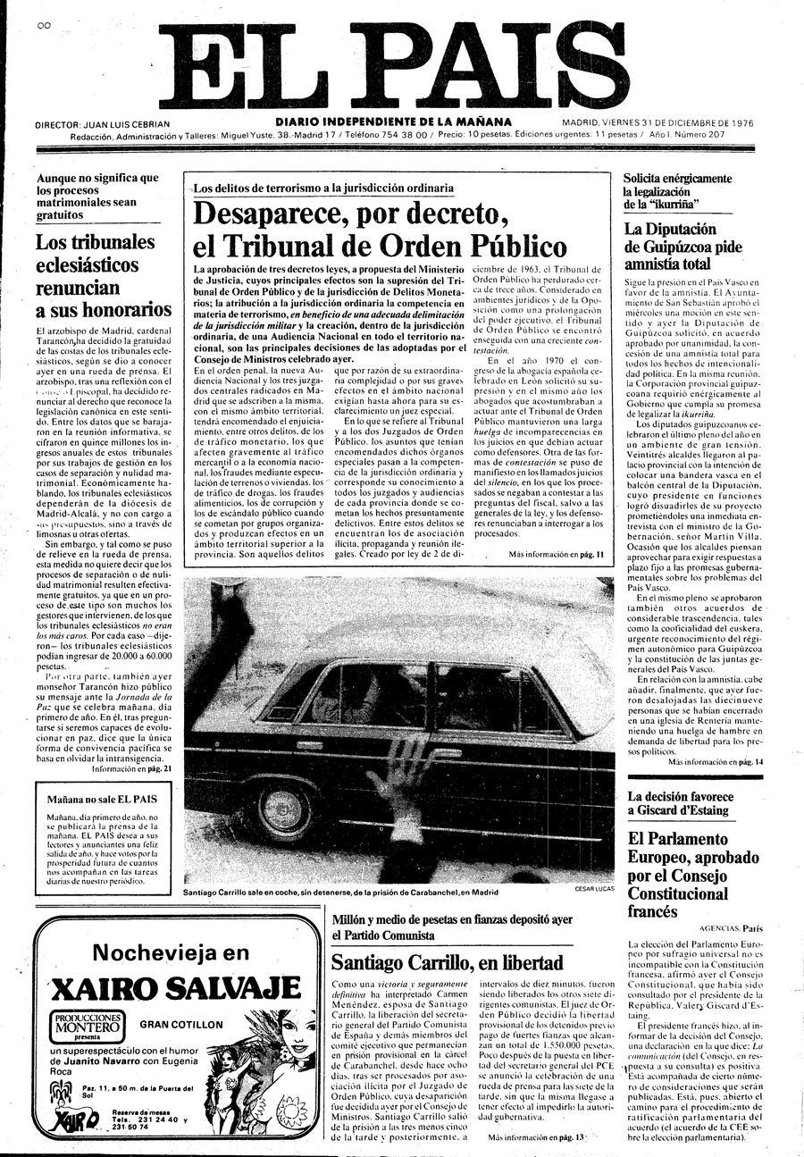 31 de Diciembre de 1976