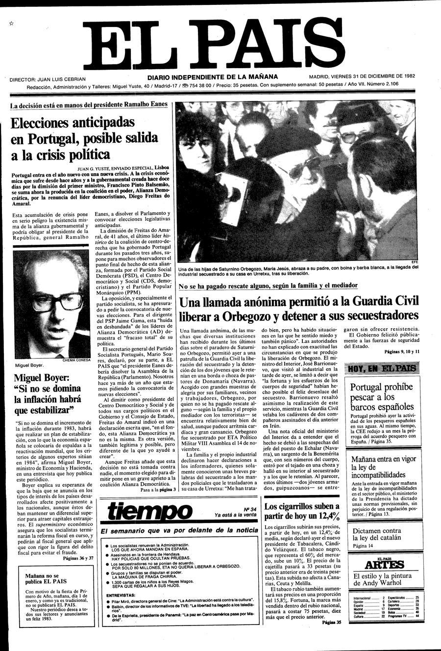 31 de Diciembre de 1982