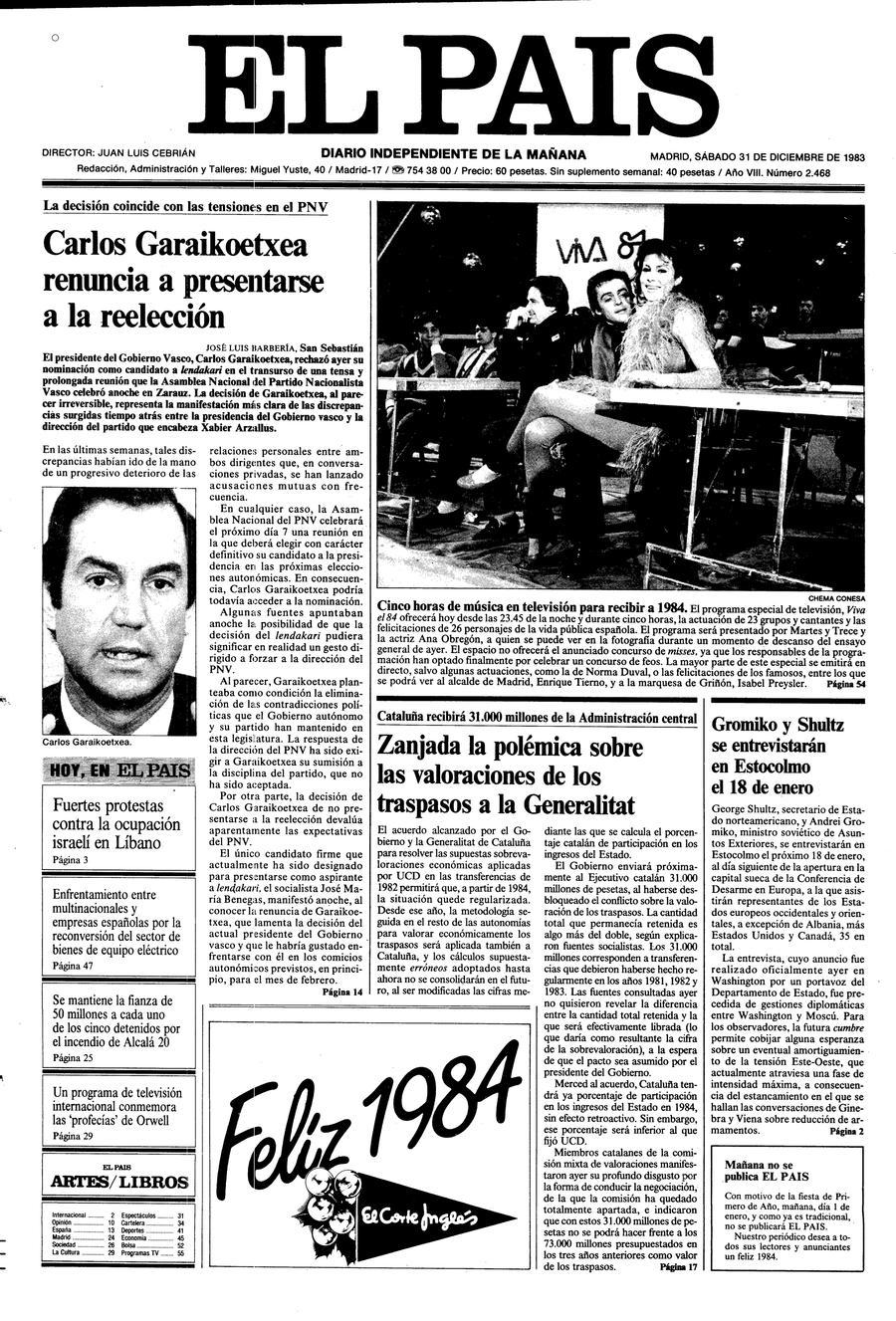 31 de Diciembre de 1983