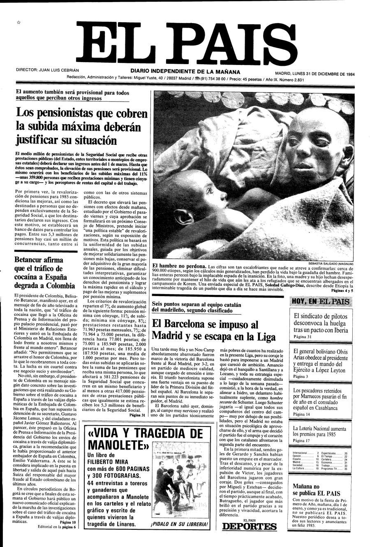 31 de Diciembre de 1984