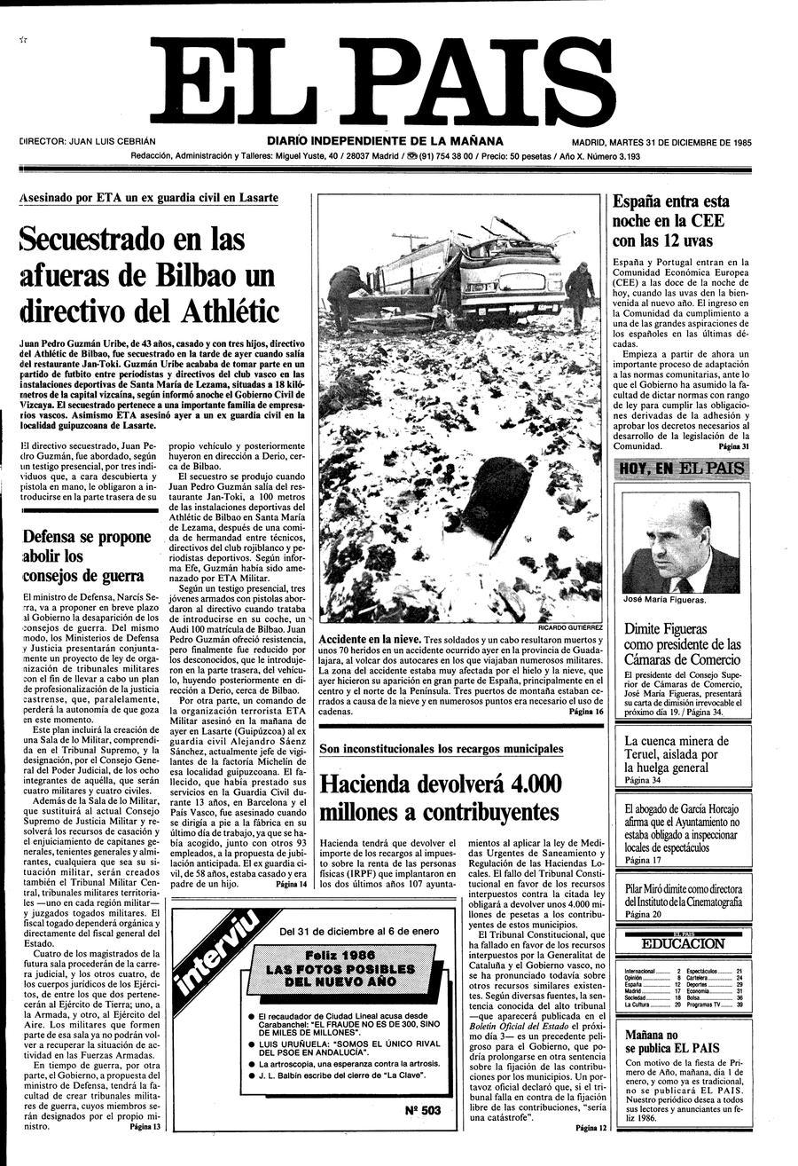 31 de Diciembre de 1985