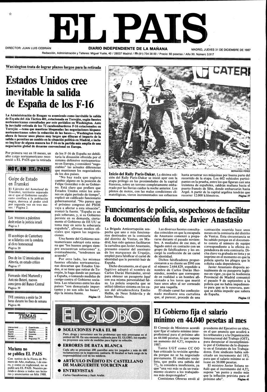 31 de Diciembre de 1987