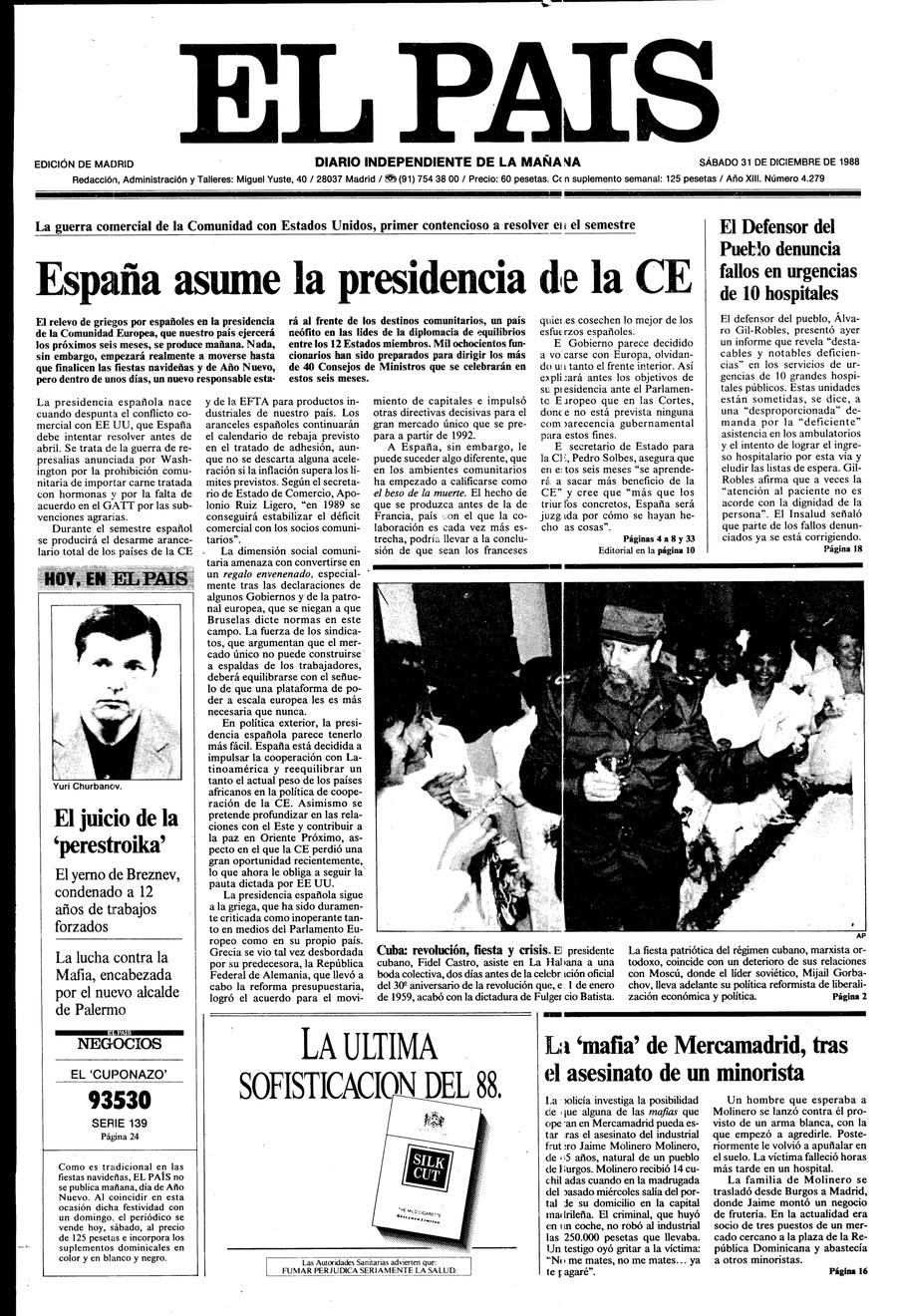 31 de Diciembre de 1988