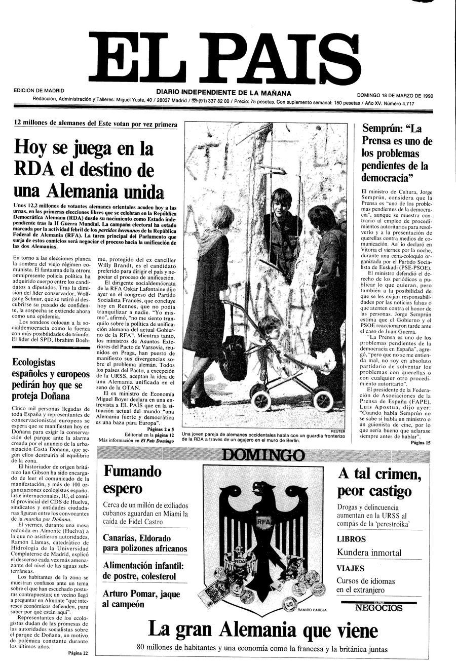 18 de Marzo de 1990