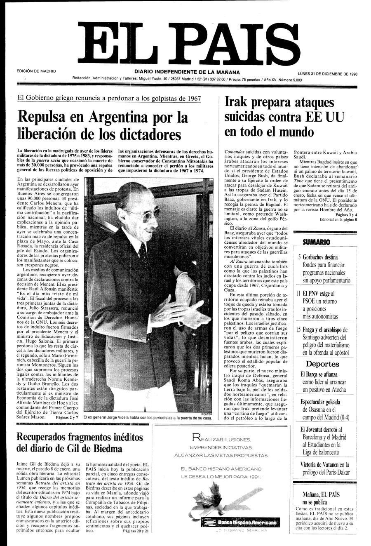 31 de Diciembre de 1990
