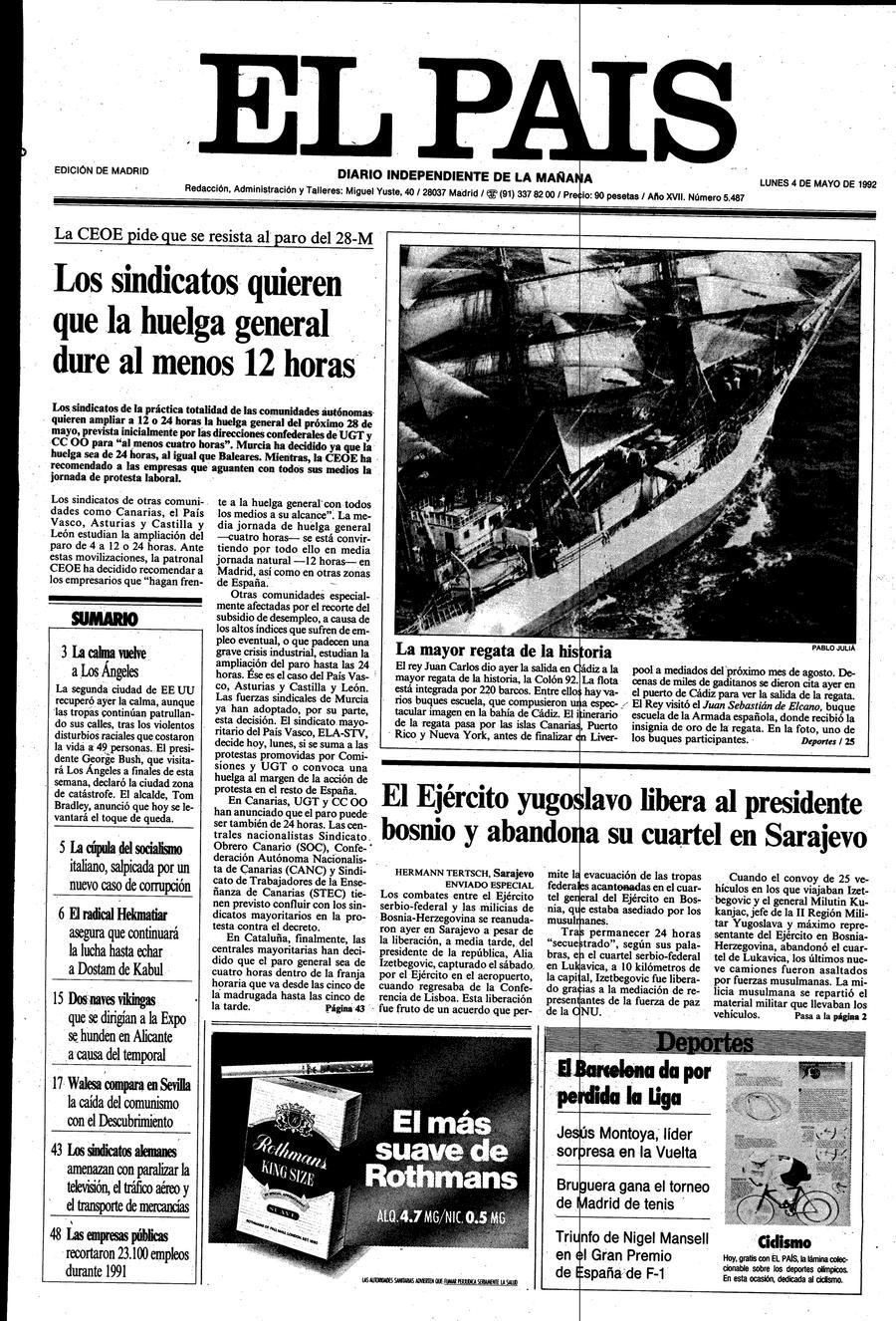 4 de Mayo de 1992