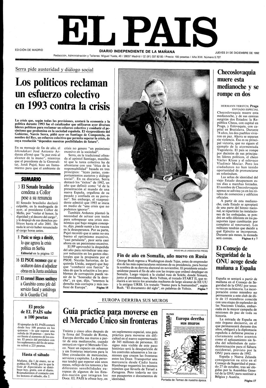 31 de Diciembre de 1992