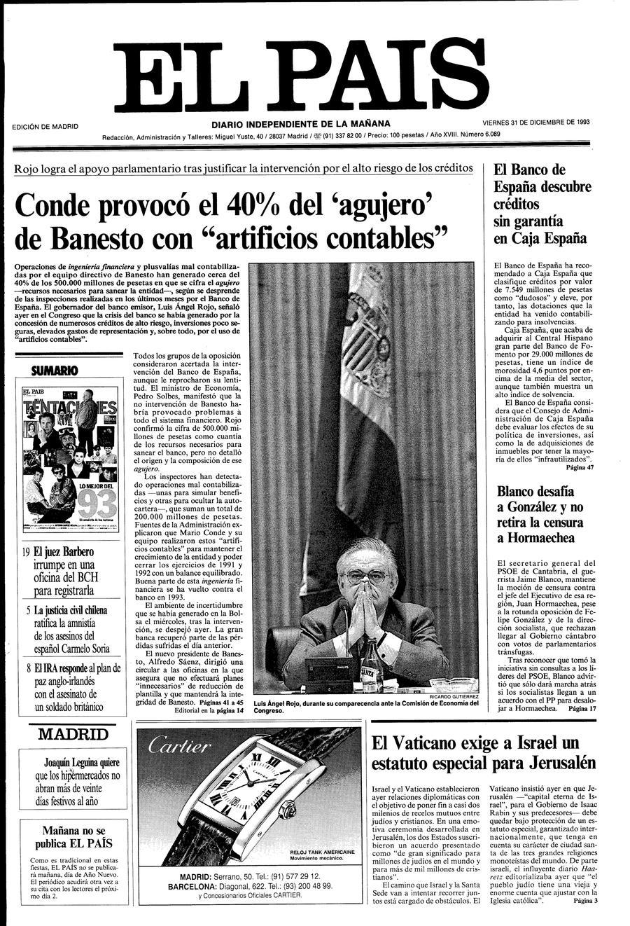 31 de Diciembre de 1993