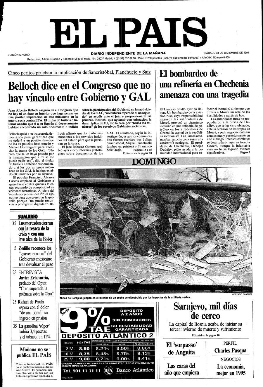 31 de Diciembre de 1994