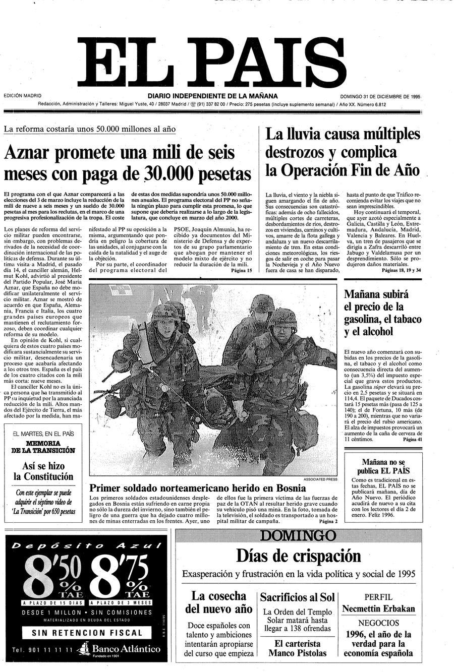 31 de Diciembre de 1995