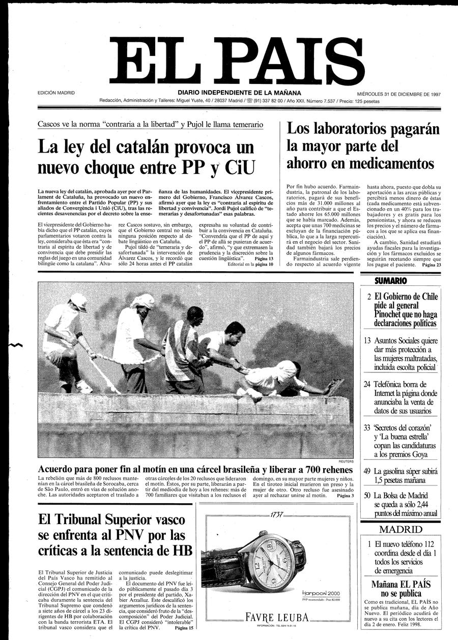 31 de Diciembre de 1997