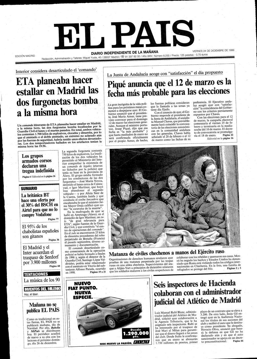 24 de Diciembre - Aniversario EL PAIS