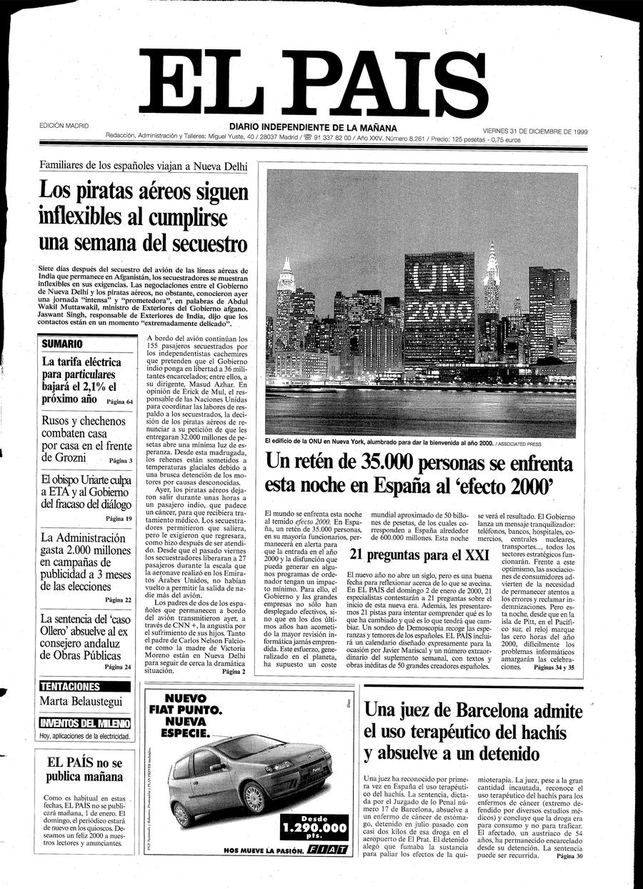 31 de Diciembre de 1999