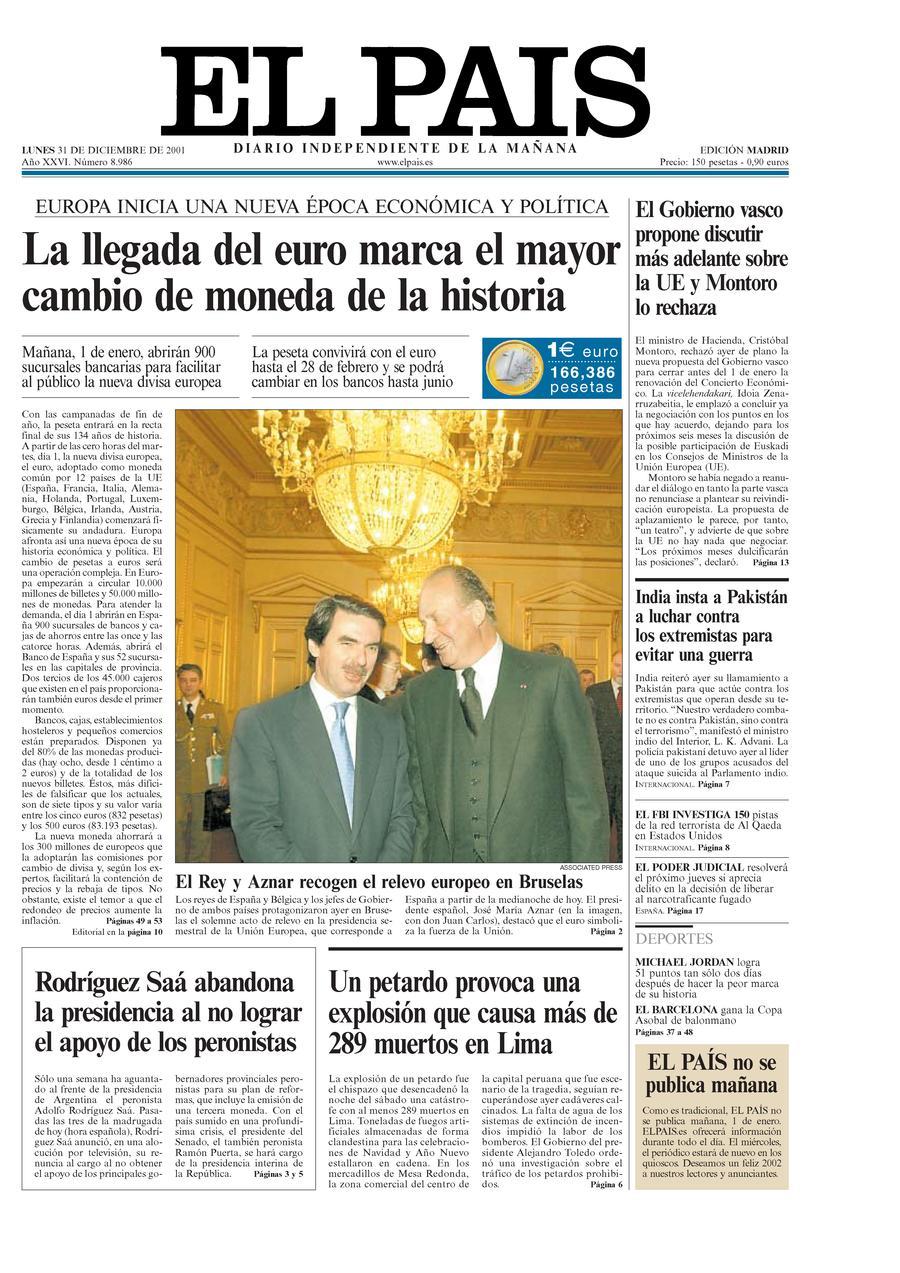 31 de Diciembre de 2001