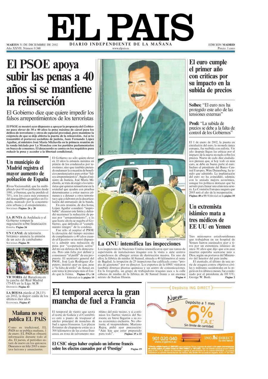 31 de Diciembre de 2002
