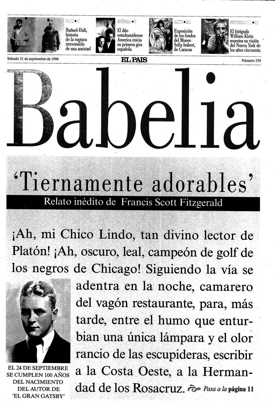 Portada de Babelia EL PAÍS del 21-09-1996